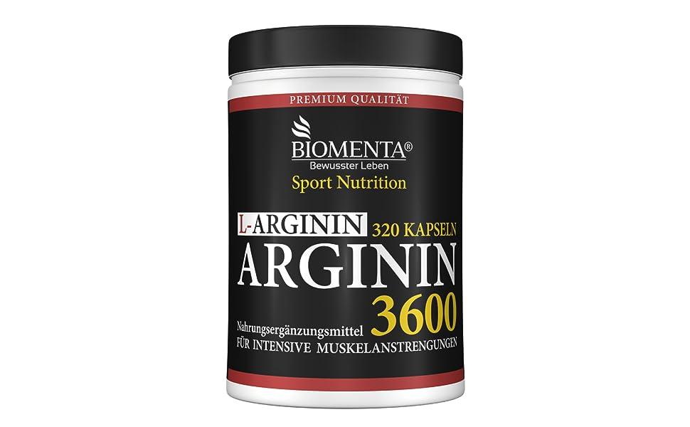 l arginin kapseln tabletten hochdosiert hcl vegan biomenta männer nahrungsergänzung muskelaufbau
