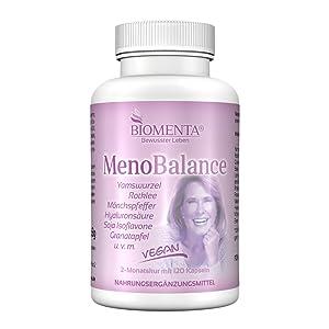 wechseljahresbeschwerden menopause kapseln mönchspfeffer granatapfel hyaluronsäure rotklee biomenta