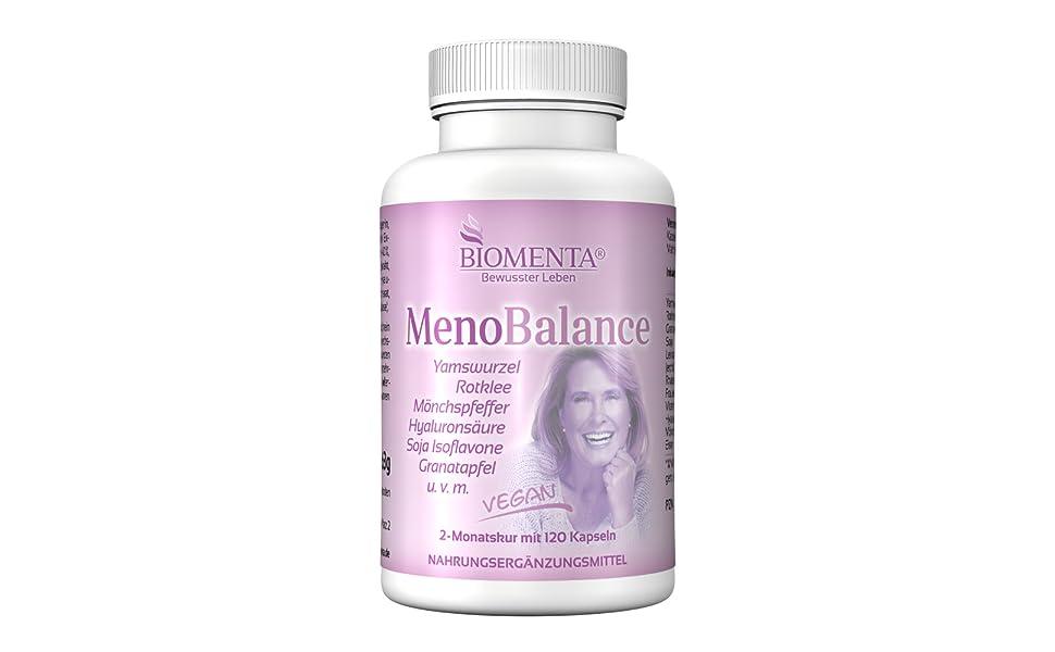 menopause meno balance wechseljahresbeschwerden wechseljahre kapseln tabletten vegan yamswurzel bio