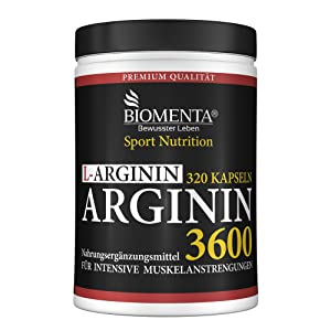 aminosäure kapseln arginin hochdosiert biomenta 3600 4500 5000 potenzmittel hcl vegan biomenta