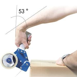 2 x Klebeband 48 mm x 180 m ZeroTape/® Paketbandabroller inkl stark klebendes Paketband Packbandabroller Ergonomiepreis 2018