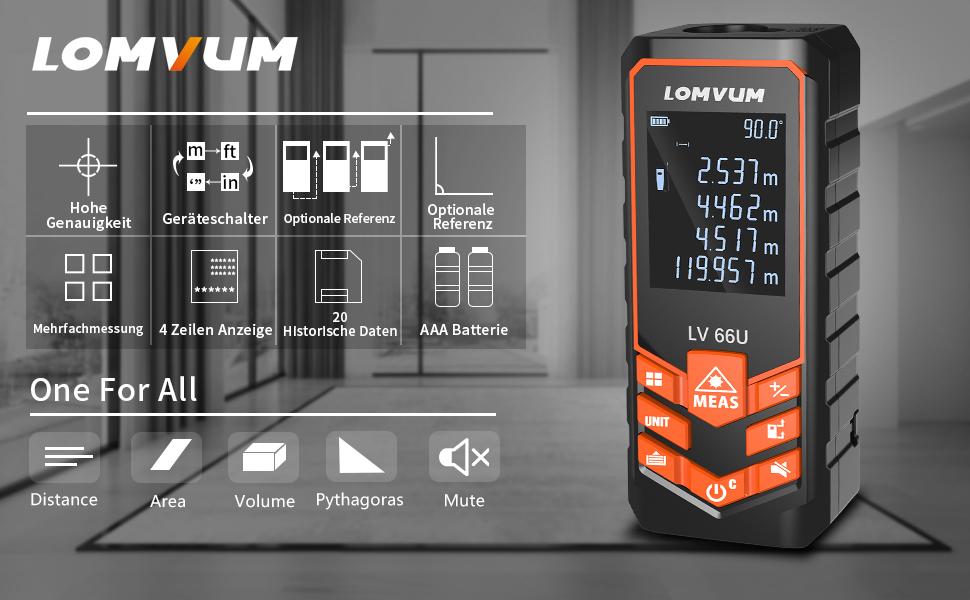 Laser Entfernungsmesser Iphone : Laser entfernungsmesser distanz m lomvum messgerät