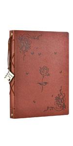 ZEEYUAN Fotoalbum Scrapbook Handgemachte Fotoalbum zum Selbstgestalten,Familien Fotoalben,Retro Hochzeit Fotoalben mit 80 Seiten Flower /…