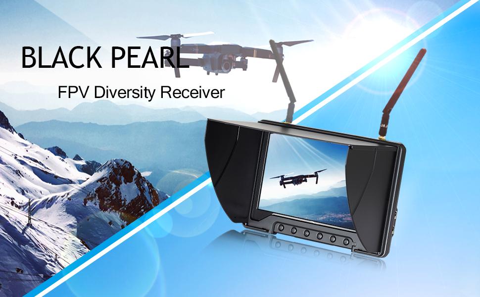 Monitor Sun Shade Cover Sunshade Anti Glare Shield for FPV Aircrafts Black