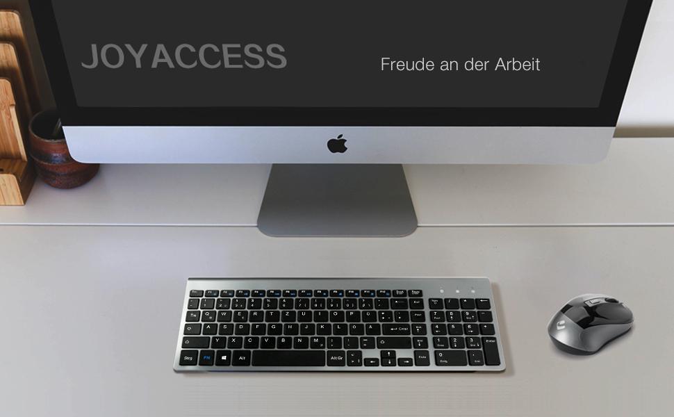 JOYACCESS Schnurlose Tastatur und Computermaus: Amazon.de