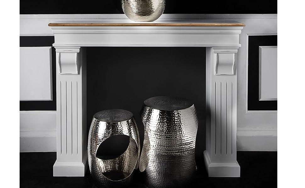 Butlers Kamin Umrandung Form Verkleidung Verschönerung Feuer Dekoration Deko Vintage Landhaus Weiß