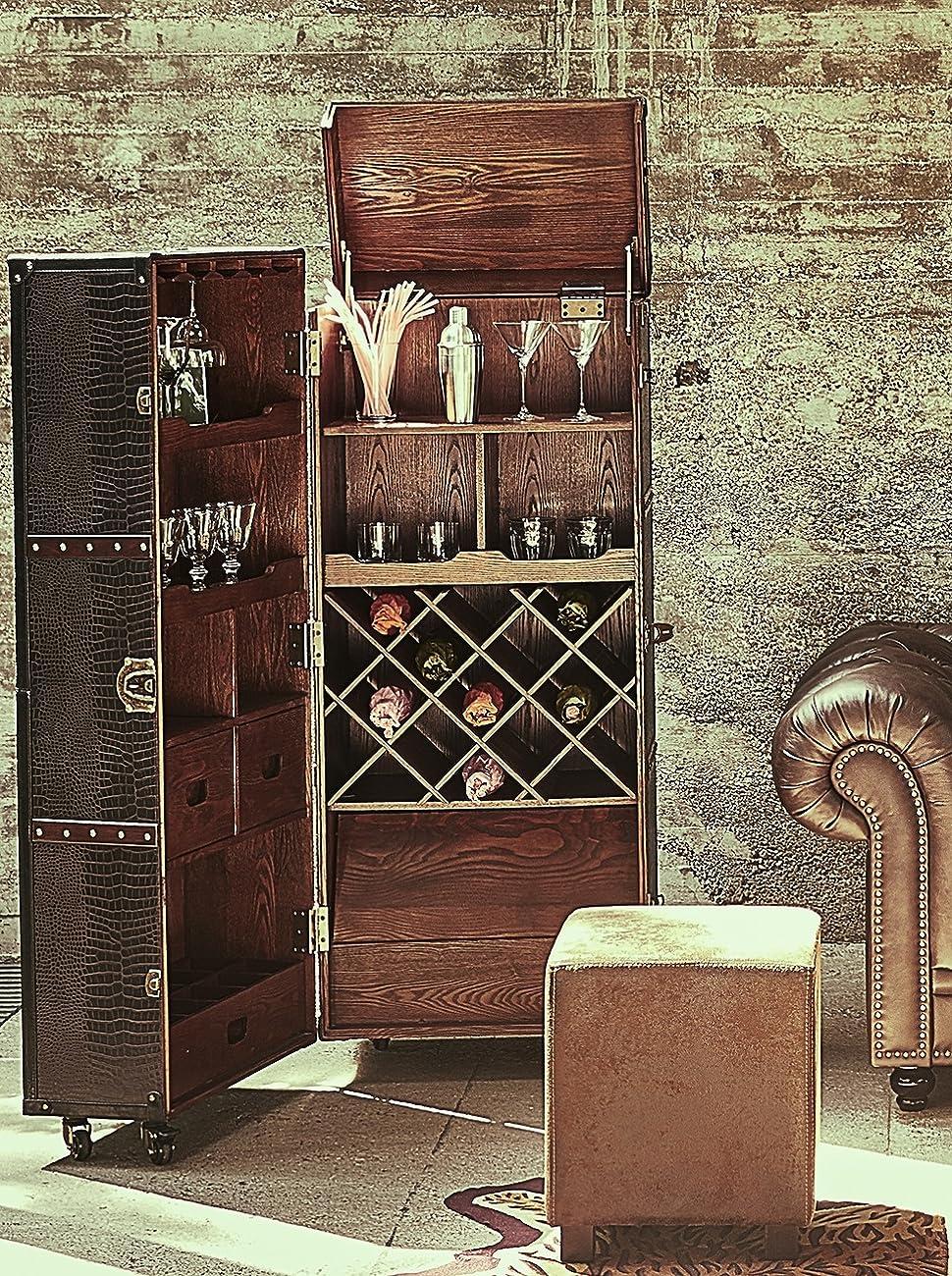 BUTLERS HEMINGWAY Kofferbar aus Holz 150x60 cm in Braun