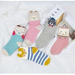Kinder Karikatur Tier Socken