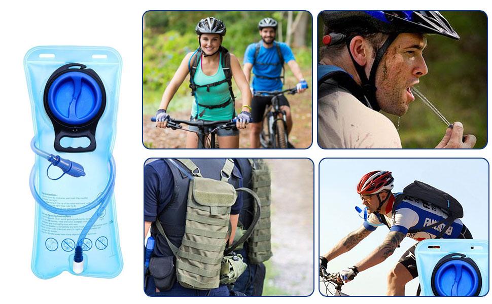 Leepesx Trinkblase Auslaufsicherer Wasserbeh/älter Wasserblase f/ür Trinkrucksack Wasserspeicherbeutel zum Radfahren Wandern Laufen Klettern