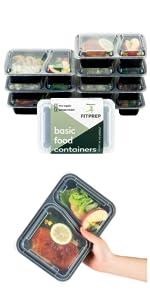senza BPA Contenitori salvafreschezza in vetro Contenitori in vetro densi con coperchio Meal Prep da cibo senza carboidrati set da 4 /– 1040 ml separazione 2 e 3 pezzi