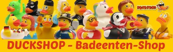 Duckshop Badeenten Quietscheente Quietscheentchen Gummiente Plastikente Badewannen-Spielzeug