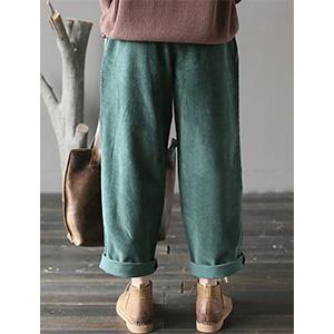 Pantaloni in velluto con tasche