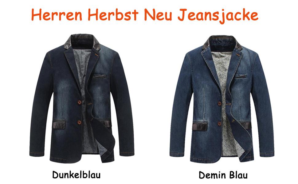 8a8e0112ec29 Vogstyle Herren Jeansjacke Classic Anzugjacken Denim Jacke Blazer ...