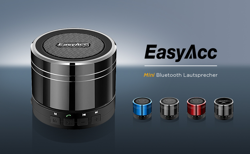 FM Radio, 3,5 mm Audio, Micro SD Karte Slot, Mikrofon Schwarz EasyAcc Mini Portable Bluetooth 4.0 Lautsprecher Speaker mit Multifunktions
