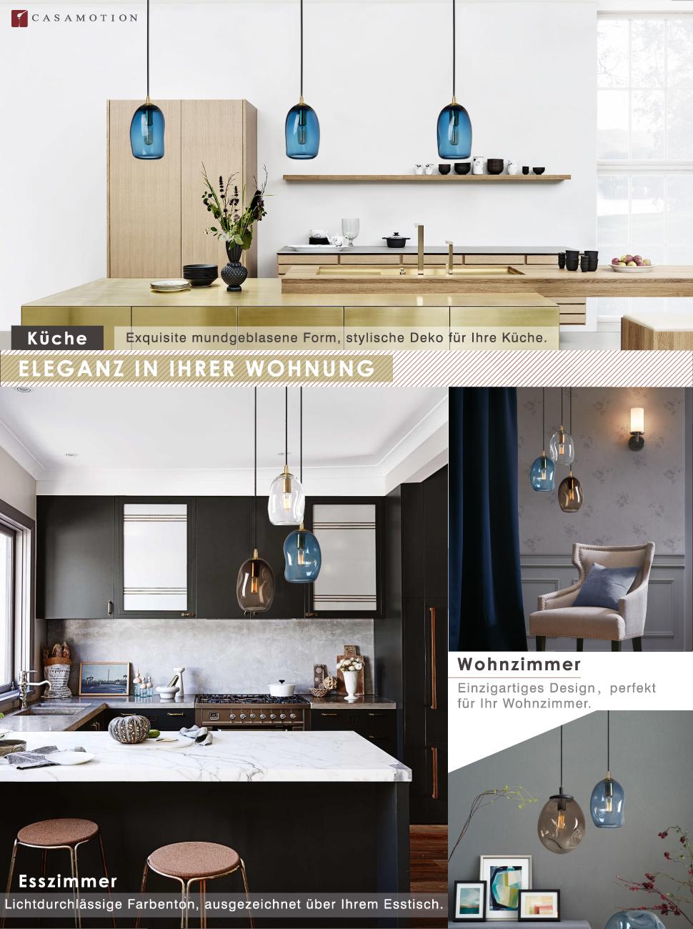 Künstlerisch Hängelampe Küche Ideen Von Casamotion Mini Pendelleuchte Hängeleuchte Aus Mundgeblasenem Glas