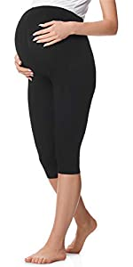 Be Mammy Damen 2er Pack Lange Umstandsleggings aus Baumwolle BE20-230