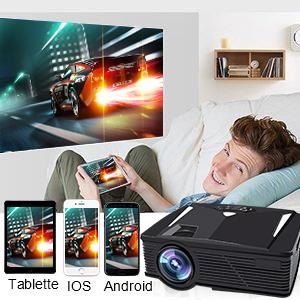 HDMI,VGA,AV,USB Heimkino Projektor Kompatibel mit Amazon Fire TV Stick Weton Wireless Mini Beamer 1080P HD LED Video Projektor +50/% Helligkeit 50.000 Stunden Leben IOS Android Smartphone Laptop WiFi Beamer 2018 Aufgerüstet