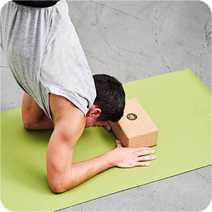 yoga blöcke im Einsatz