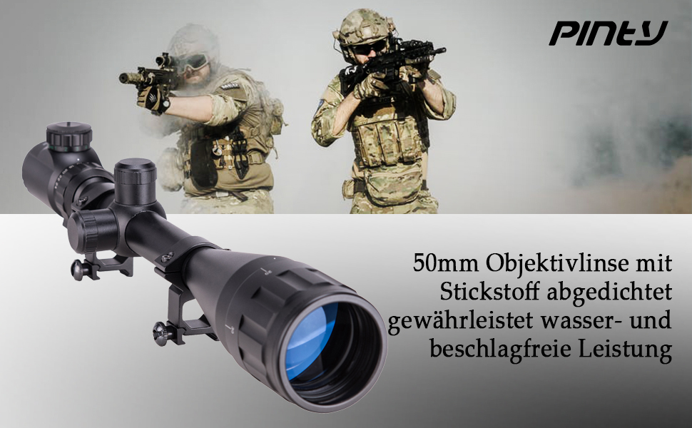 Zielfernrohr Mit Entfernungsmesser Defekt : Pinty 6 24x50mm rot grün zielfernrohre green & red luftgewehr scope