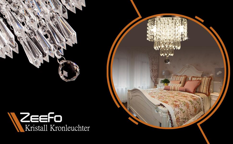 Kristall Kronleuchter Reinigung ~ Zeefo kristall deckenleuchte moderne stil anhänger