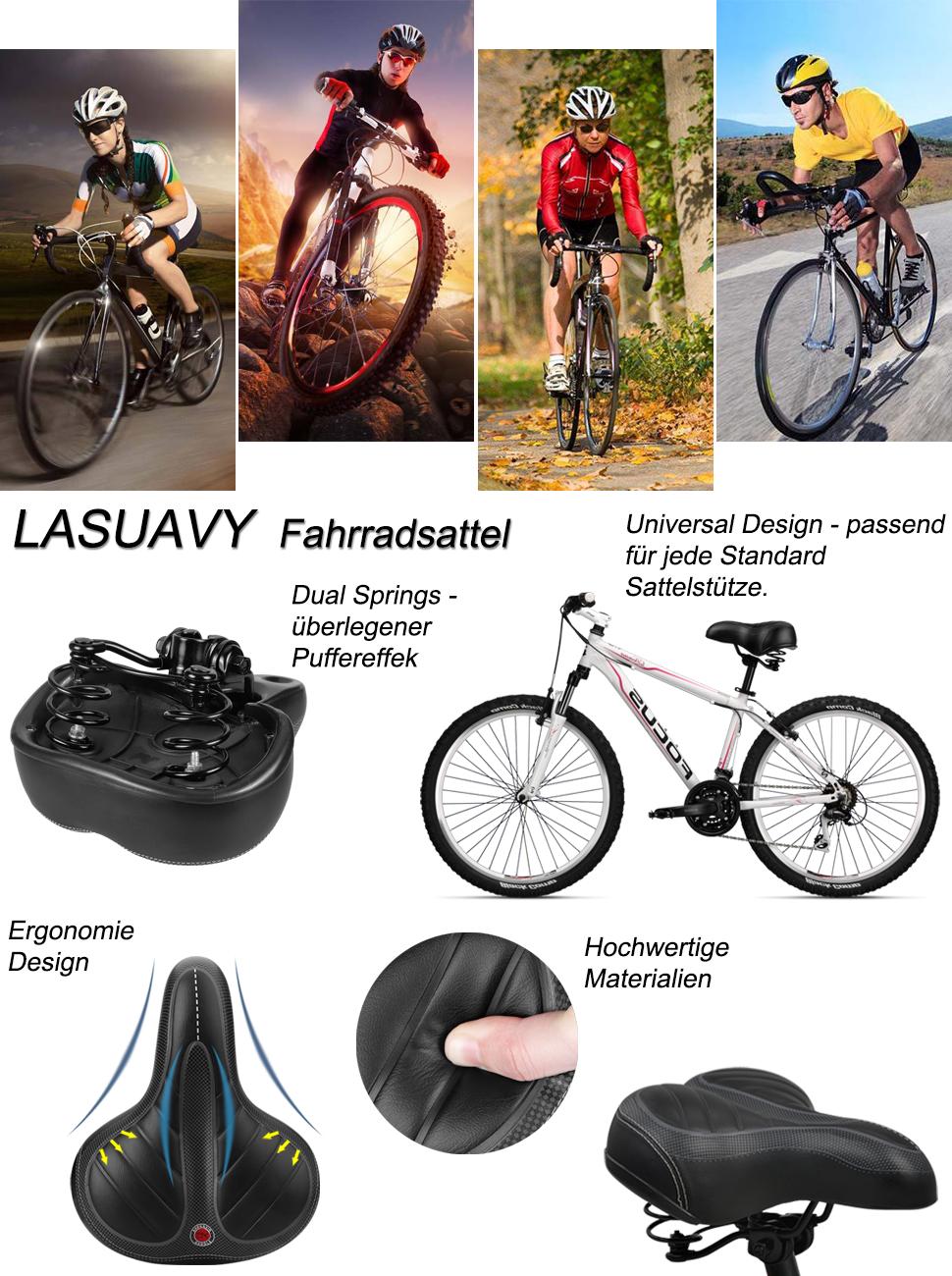 Fahrradsitz Fahrrad Universal Sattel Multi-Color Verbreitert Komfortable La A3G8