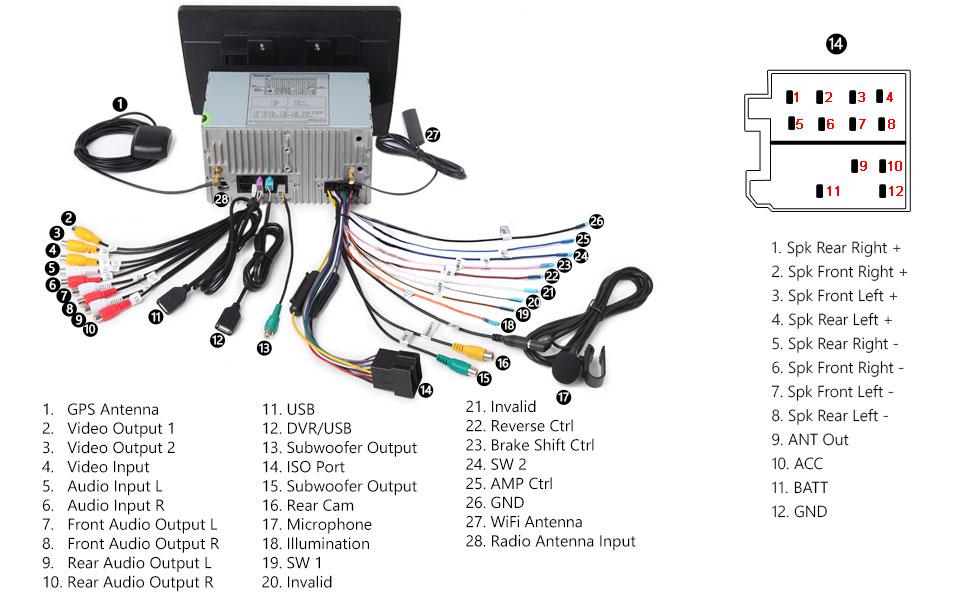 Peachy Eonon 2Din Android 8 1 Indash Car Digital Audio Video Stereo Wiring 101 Eumquscobadownsetwise Assnl