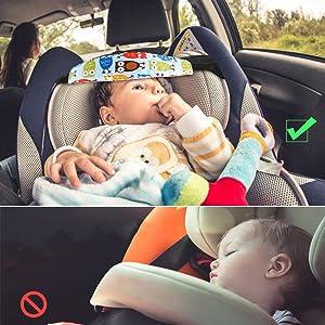 Kindersitz Befestigung Aodoor Einstellbare Laufställe Kopfstützhalter Schlafhaar Hilfe Kopfstütze Kopfband Autositz Befestigung Hilfe Schlaf 2 Stk Baby