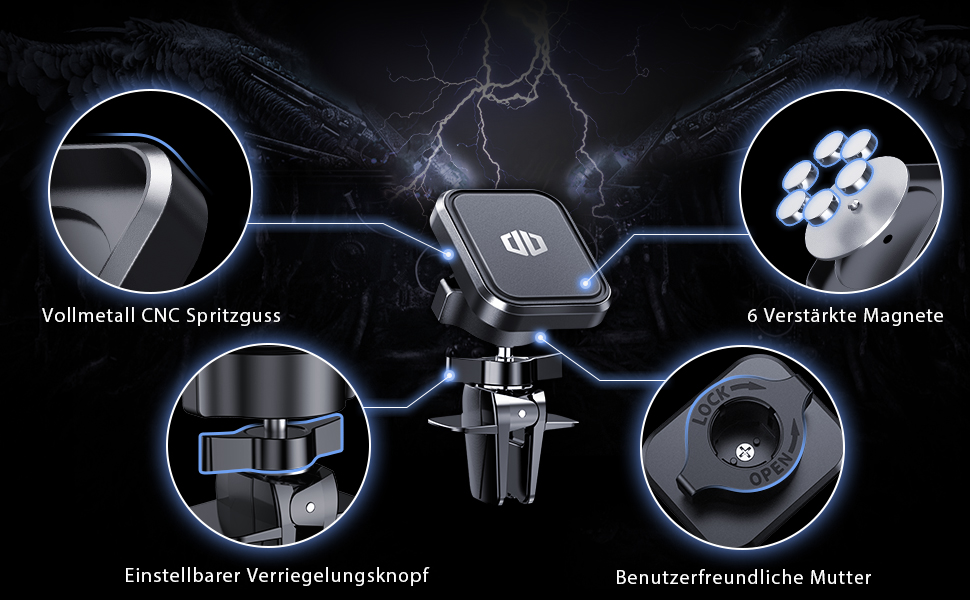 Handyhalterung Auto Magnet Handyhalter fürs Auto Lüftung