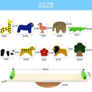 Stapelspielzeug Baby Kind Holz Puzzle Motorikspielzeug HOLZ-STAPELTIERE Krokodil Löwe Elefant