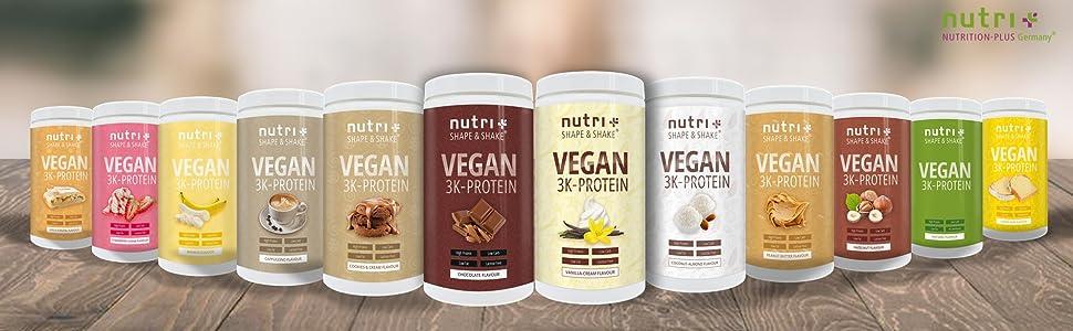 Proteinpulver Vegan Eiweißpulver Protein Eiweiß pflanzlich bio muskelaufbau diät abnehmen shake