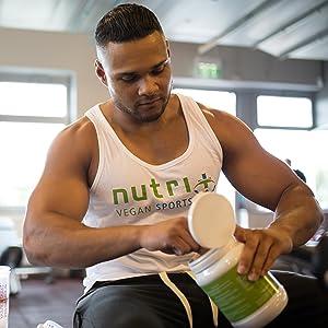 Veganes-Proteinpulver Vegan Proteinpulver Protein Whey Eiweißpulver Muskelaufbau Shake Diät Nutri