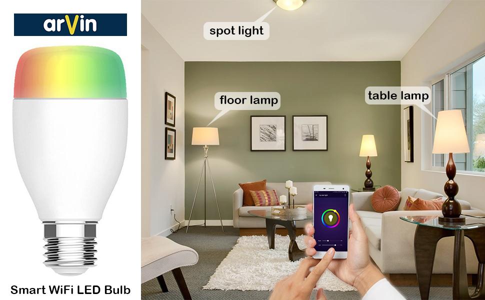 Arvin Smart Gluhbirne Lampe Schlafzimmer Fur Alexa Zubehor Smart