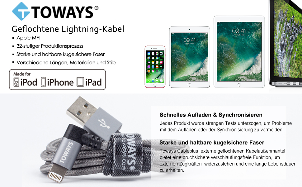 Toways Lightning Cable iPhone