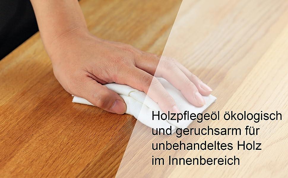 Hermann Sachse Holzöl Hartöl farblos für innen 250ml Pflegeöl für Möbel  Tisch Arbeitsplattenöl Eiche Wildeiche Kernbuche Buche Nussbaum Kiefer ...