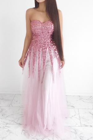 36cbb81b19d45a Angel-fashions Damen New Gold Sequin Schatz Kult Lace up bodenlangen ...
