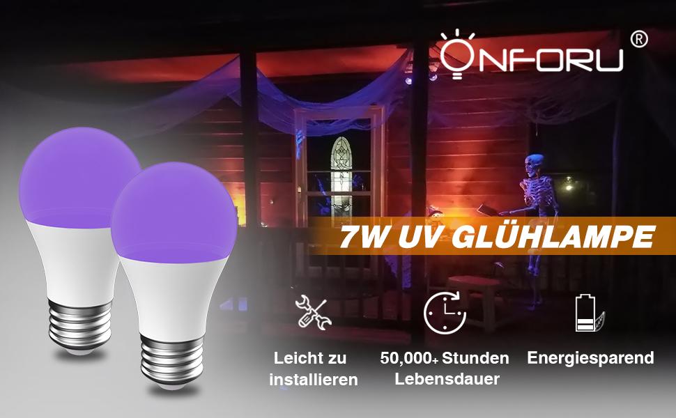 220 V 40 W Senmubery E27 UV-Ultraviolett-Schwarzlicht-CFL-Gl/üHlampe Mit 40 W Spiralleistung Spannung 220 V Form
