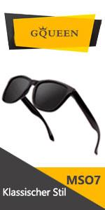 Brown Framebrown Lens GQUEEN Horn Gestell Halbrahmen Polarisierte Sonnenbrille