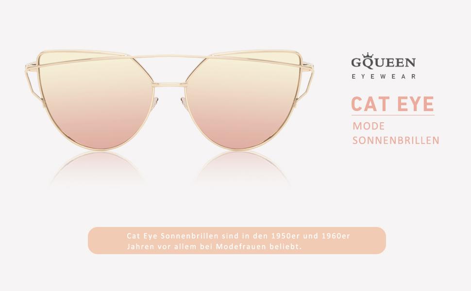 Ladies Cat Eye Mirrored Lens Sonnenbrillen tragen Sie es gehen und Rock die