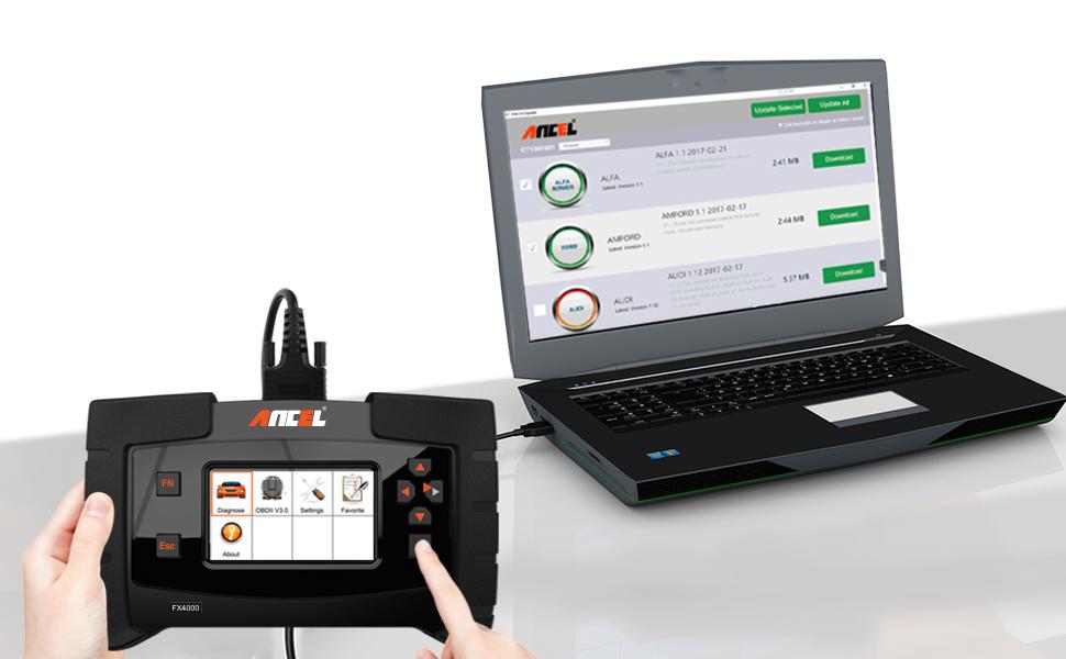 ANCEL FX4000 Alles System-Auto OBD2 Scanner Auto Codeleser Fahrzeug ...