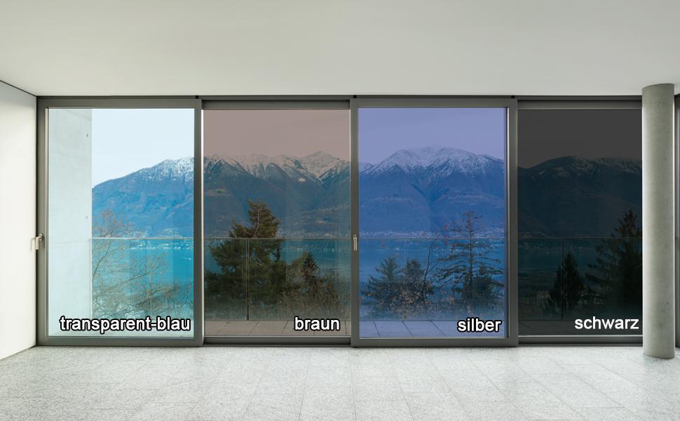 fancy-fix Verspiegelte Sonnenschutzfolie für Fenster, Sichtschutz ...