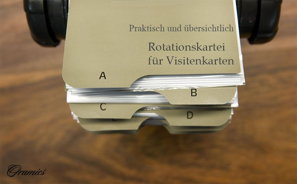 Oxid7 Visitenkartenkarussell Für Visitenkarten Rotationskartei Passend Für 400 Visitenkarten Inkl 24 Teiligem Az Register Mit Metallständer
