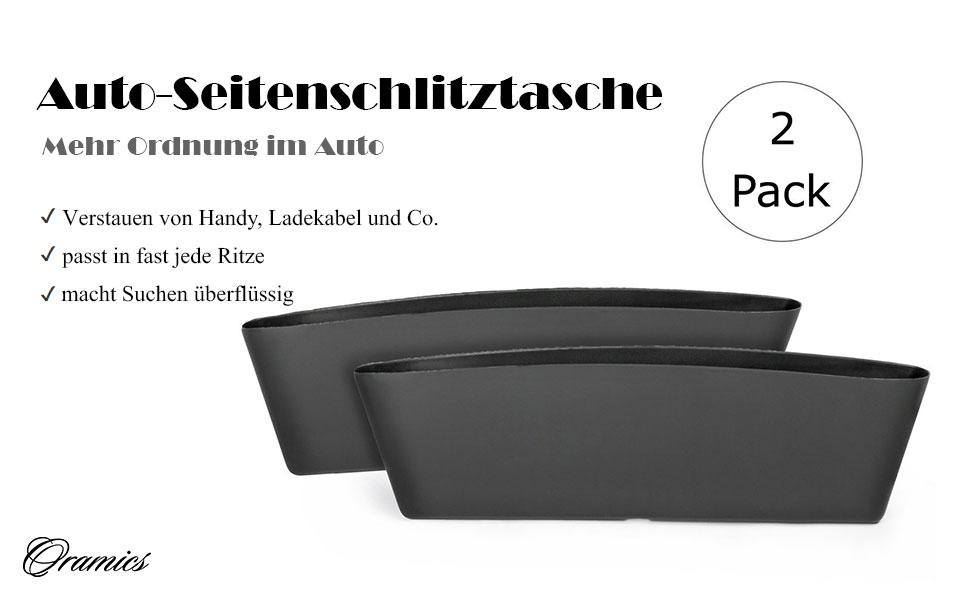 Organizer f/ür unterwegs Utensilientasche f/ür Auto Oramics 2er Pack Sitzablagefach f/ür Auto