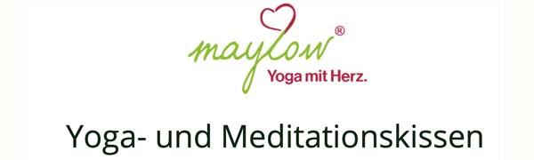 Bezug waschbar maylow Yoga mit Herz Entspannung und Gelassenheit Yogakissen Meditationskissen mit hochwertiger Stickerei Mandala Namast/é mit Bio-Dinkelspelz gef/üllt f/ür mehr innere Ruhe