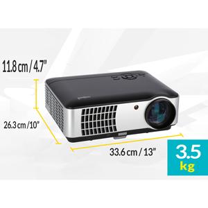 Mini Beamer, Full HD Beamer, Beamer, LED Beamer, Beamer HDMI, Beamer mit USB, Beamer mit