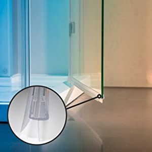 Duschdichtung Dichtung 2x100cm 6mm 7mm 8mm Duschglas Schwallschutz Bad Dusche