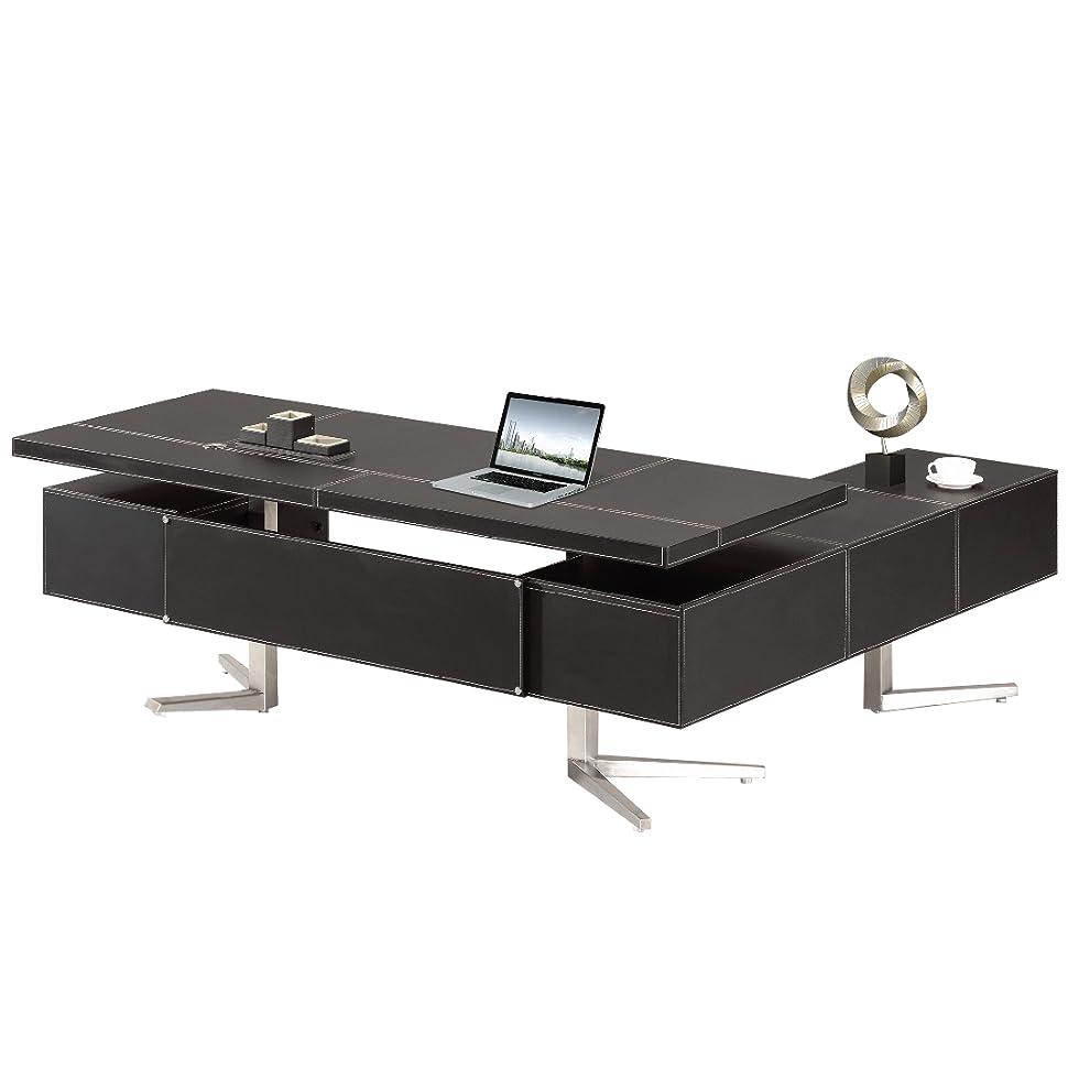 Chef Schreibtisch Büromöbel Buero Büroausstattung Leder Schreibtisch ...