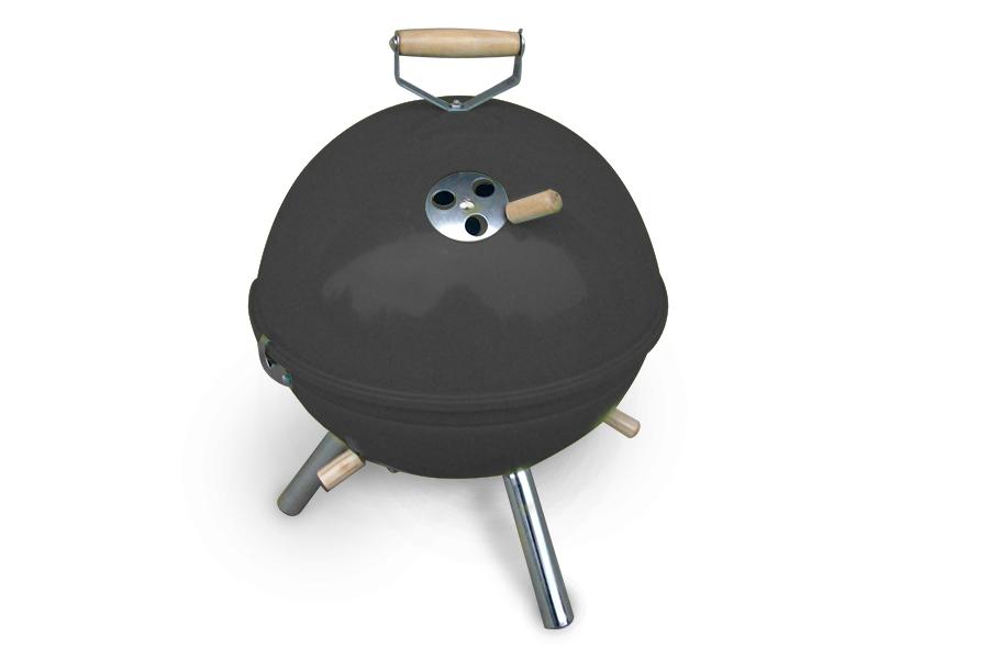 Billig Gasgrill Camping : Jet line mini kugel bbq grill schwarz holzkohlegrill camping