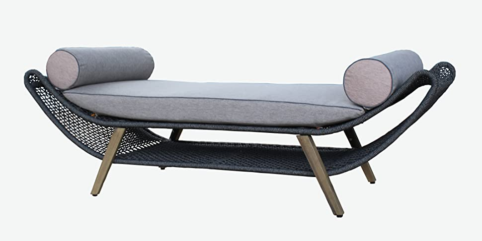 Amazon.de: Design Gartenliege Aruba von Jet-Line in anthrazit Garten ...
