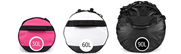 size variations, sandhamn duffel bag collection