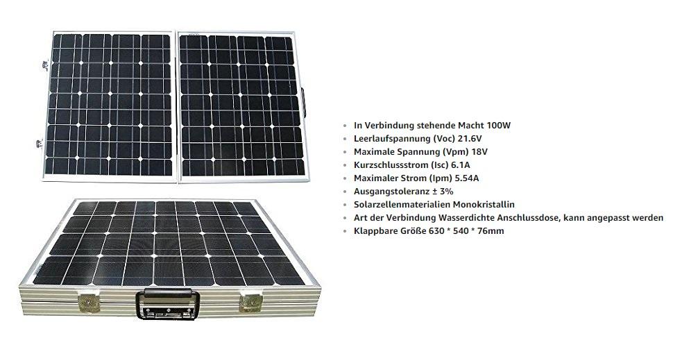 eco worthy solarpanel 12v solarmodul 100w monokristallin. Black Bedroom Furniture Sets. Home Design Ideas